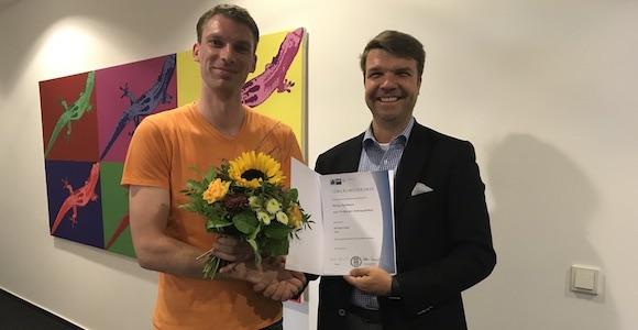 Nethinks Mitarbeiter - Jubiläum | Herzlichen Glückwunsch Florian Kaufmann!
