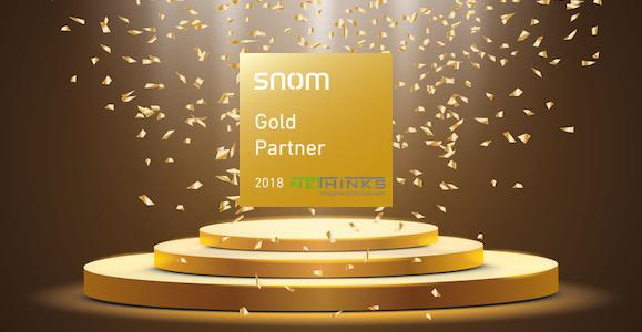 Erfolgreiche Zusammenarbeit: NETHINKS ist Gold-Partner von Snom